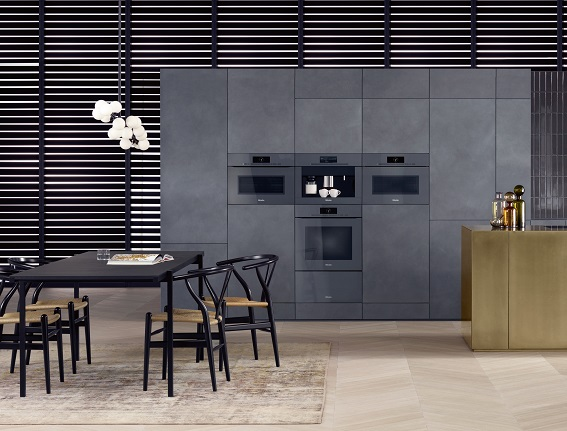 Miele ArtLine series of built-in appliances made in Germany.
