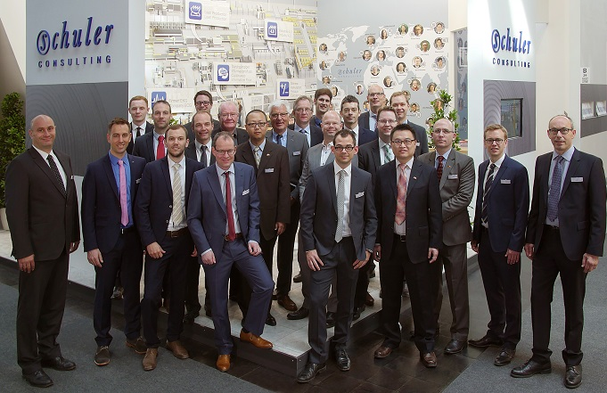People�s Schuler Consulting at booth in LIGNA Fair 2015.