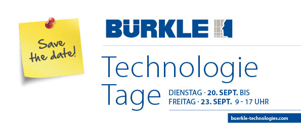 BŰRKLE OPEN HOUSE, 20-23 SEPTEMBER IN FREUDENSTADT/Germany