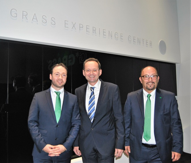 From left; Marco M�ller/President Grass Italia, Christoph Walter/CEO Grass Group and Pino Paccagnella/Sales Manager Italy. Ph. Datalignum