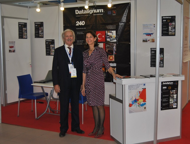The editor Pietro Stroppa and his wife Silvia Büchi at Intermob 2016 /Istanbul, Turkey. Photo Datalignum