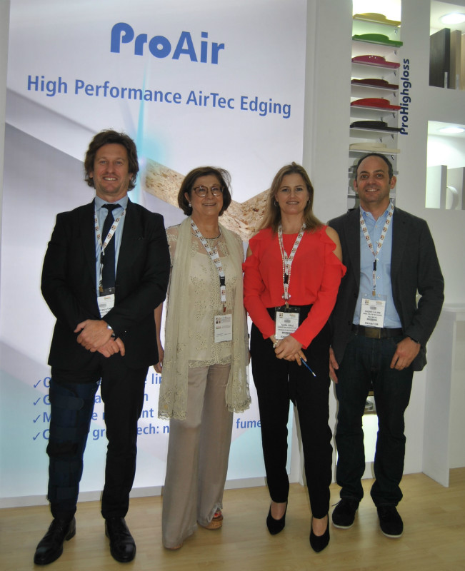 From left: Paulo Moutinho/M.D., Maria da Concei��o Gomes/CEO, Clara Cruz/Secretary, Sherif Salem/Area Sales Manager. Photo Datalignum in Dubai.