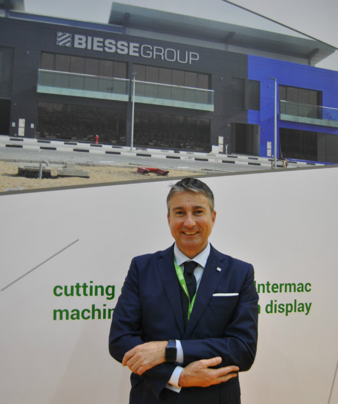 Federico Broccoli/Subsidiaries Division Director & Wood Division Director/Sales. Photo Datalignum in Dubai.