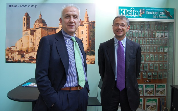 Left, Gabriele Laghi /M.D. of Sistemi Klein and Eros Angelini /Sales Manager. Photo Datalignum