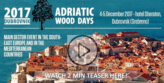 ADRIATIC WOOD DAYS, 4-5 DECEMBER, IN DUBROVNIK /CROATIA