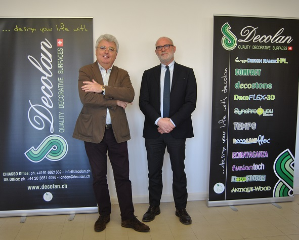 Left, Dr.Gianni Iurza/CEO and Luciano Luci/Sales Manager Italy. Photo Datalignum