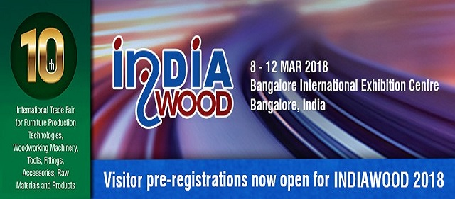 INDIAWOOD FAIR, 8-12 MARCH 2018, BANGALORE/INDIA
