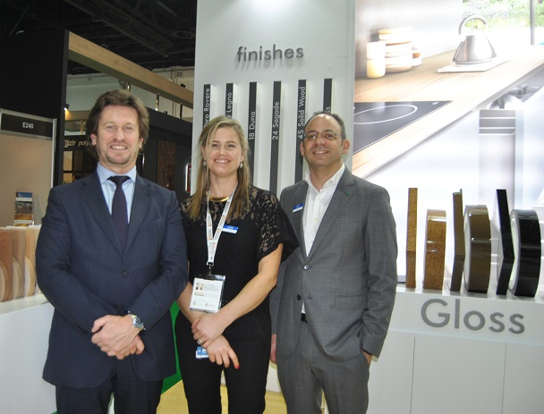 From left: Paulo Moutinho/M.D., Clara Cruz/Secretary and Sherif Salem/Area Sales Manager. Photo Datalignum in Dubai.