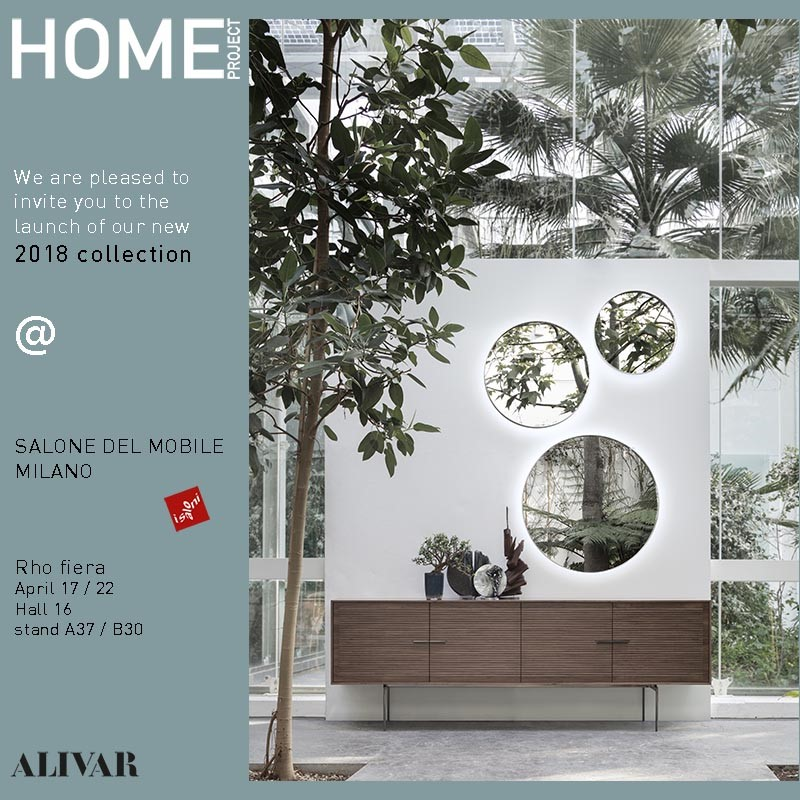 "ALIVAR  ITALY, AT THE ""SALONE DEL MOBILE"" MILAN, HALL 16 BOOTH A37"