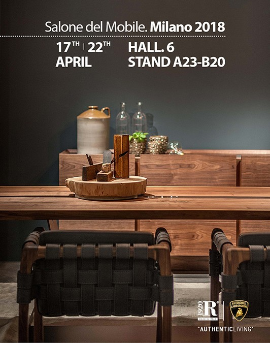 "RIVA 1920 ITALY, AT THE ""SALONE DEL MOBILE"" MILAN, HALL 6 BOOTH A23"