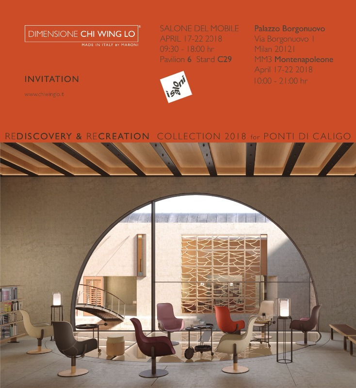 "CHI WING LO BY MARONI ITALY AT ""THE SALONE DEL MOBILE"" MILAN, HALL 6 BOOTH C29"