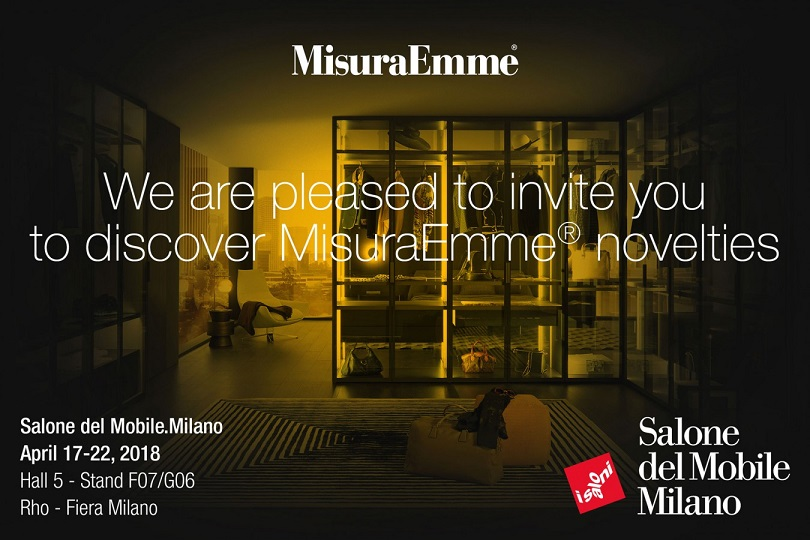 "MISURAEMME ITALY AT ""THE SALONE DEL MOBILE"" MILAN, HALL 5 BOOTH F7"