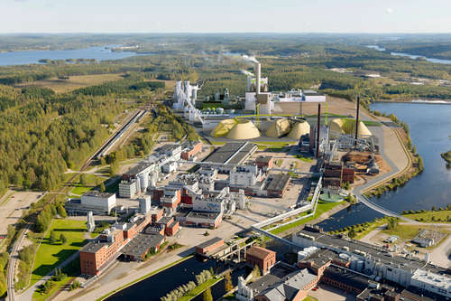 The bio-products mill of Mets� Fibre in ��nekoski, central Finland, is a good example of how the forest industry supports regional economies in Finland. Photo Mets� Group.