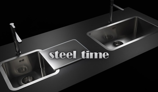 STEEL TIME ITALY, DESIGN COOKER- HOODS, KITCHEN SINKS STANDARD & PERSONALIZED SOLUTIONS.