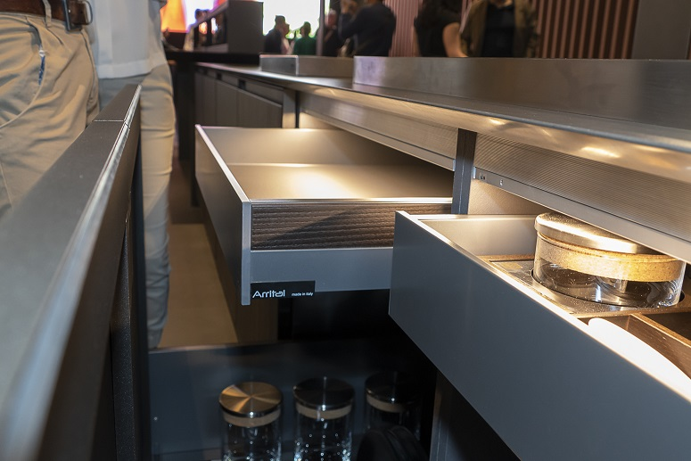 GRASS AUSTRIA: THE NOVA PRO SCALA DRAWERS INSTALLED IN THE ARRITAL KITCHENS.