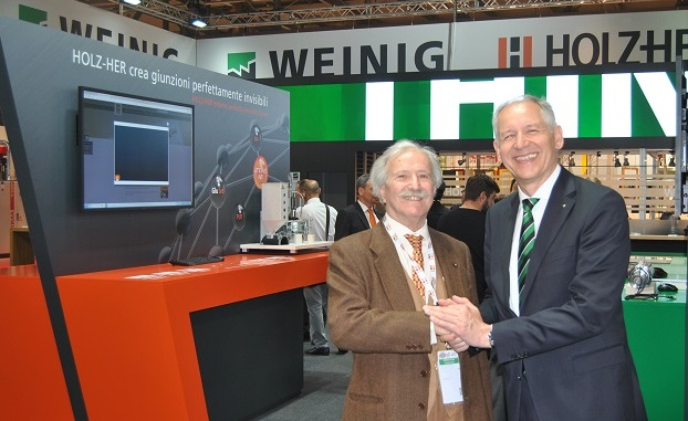 The Weinig�s President (right), Dr. Wolfgang P�schl, received our Editor Peter Stroppa, on the occasion for the Open House.