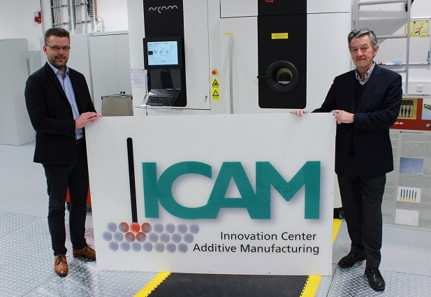 Left, Dr. Thomas Weissg�rber and Prof. Bernard Kieback at the inauguration of the Innovation Center Additive Manufacturing ICAM at Fraunhofer IFAM in Dresden