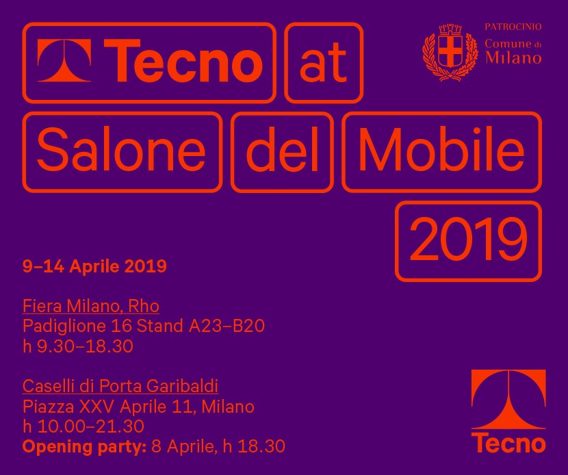 TECNO ITALY AT SALONE MILAN. 9-14 APRIL 2019