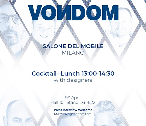 VOͶDOM SPAIN AT SALONE MILAN, 9-14 APRIL 2019