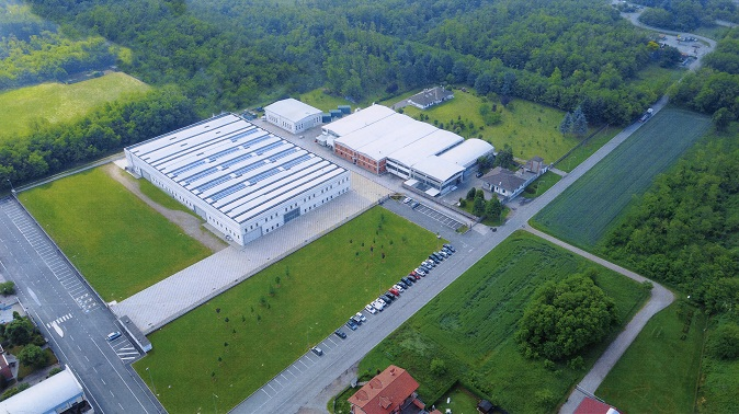 Aerial view of the Magnago plant.