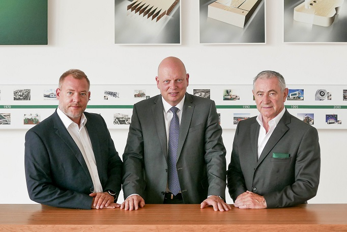 "From left: Change at the helm: The ""new"" Head of Central Marketing Oliver Kunzweiler, Gregor Baumbusch/CEO and Klaus Müller"
