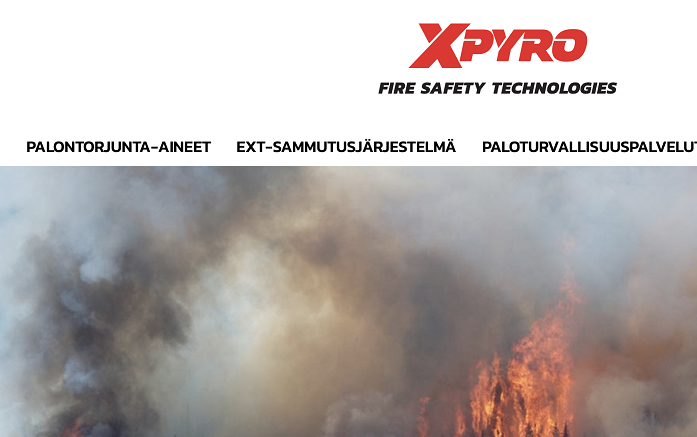 XPYRO FINLAND: A COMPANY SPECIALIZED IN FIRE EXTINGUISH PRODUCTS & SYSTEMS