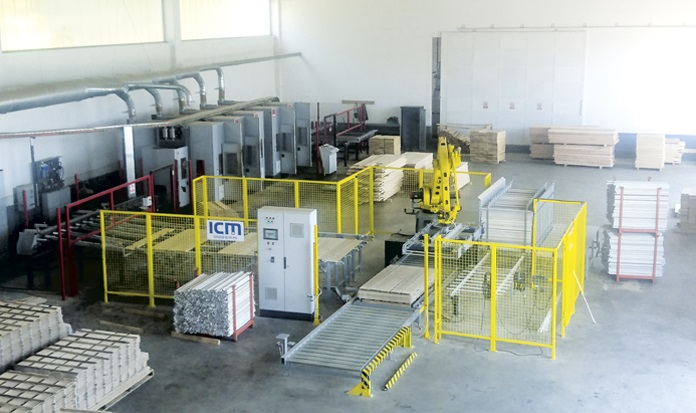 ICM SERBIA: ROBOTIC LINE FOR PALLETIZING WOOD VENEERS/LAMELLAS