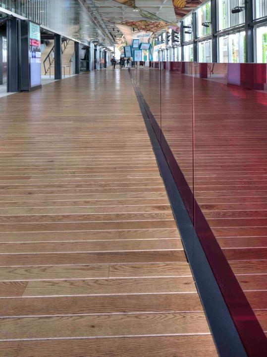 AHEC: American White Oak flooring deck features in the USA pavilion at Expo 2015.