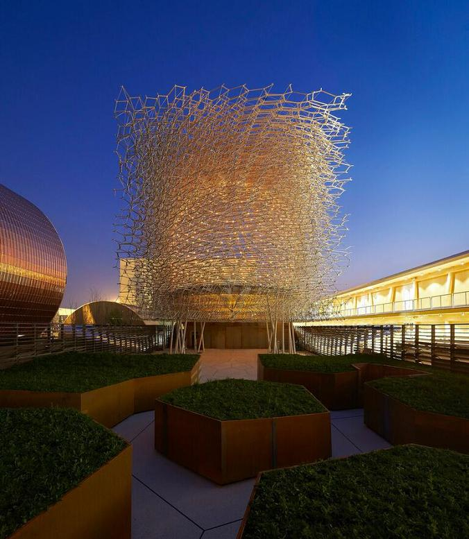 The  UK pavilion at Expo Milan 2015: Grown in Britain: Shared Globally.