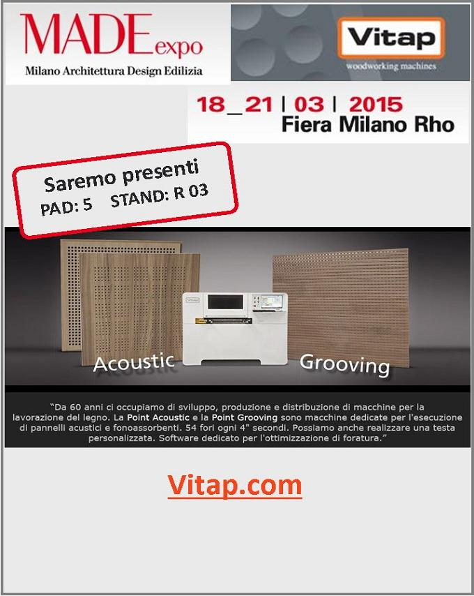 VITAP exhibit at MADE EXPO, 18-21 March 2015  at Fiera Milano Rho / Italy.